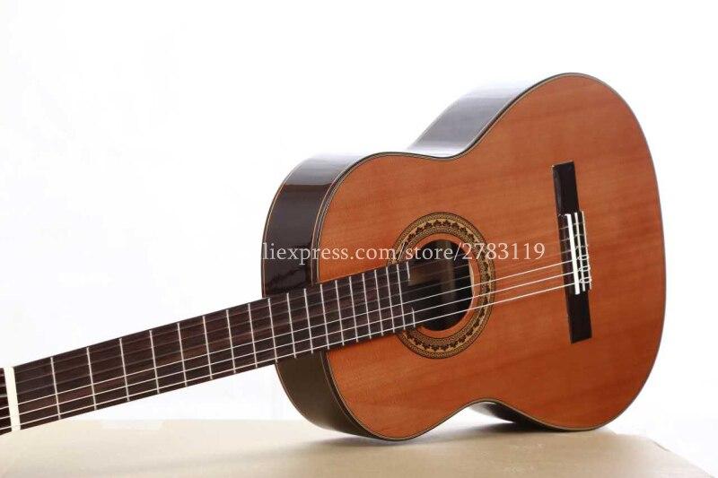36 inch Handmade Spanish guitar,VENDIMIA SOLID Cedar /Rosewood Acoustic guitarras,classical guitar with Nylon string 580MM