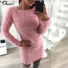 2c19ccb85cc2 Popular Sweater Dress with Faux Fur Sleeves-Buy Cheap Sweater Dress with Faux  Fur Sleeves lots from China Sweater Dress with Faux Fur Sleeves suppliers  on ...