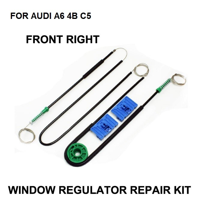 1997-2005 CAR WINDOW CABLE FOR AUDI A6 4B C5 ELECTRIC WINDOW REGULATOR REPAIR KIT FOR A6 AVANT Allroad FRONT RIGHT OE 4B0837462