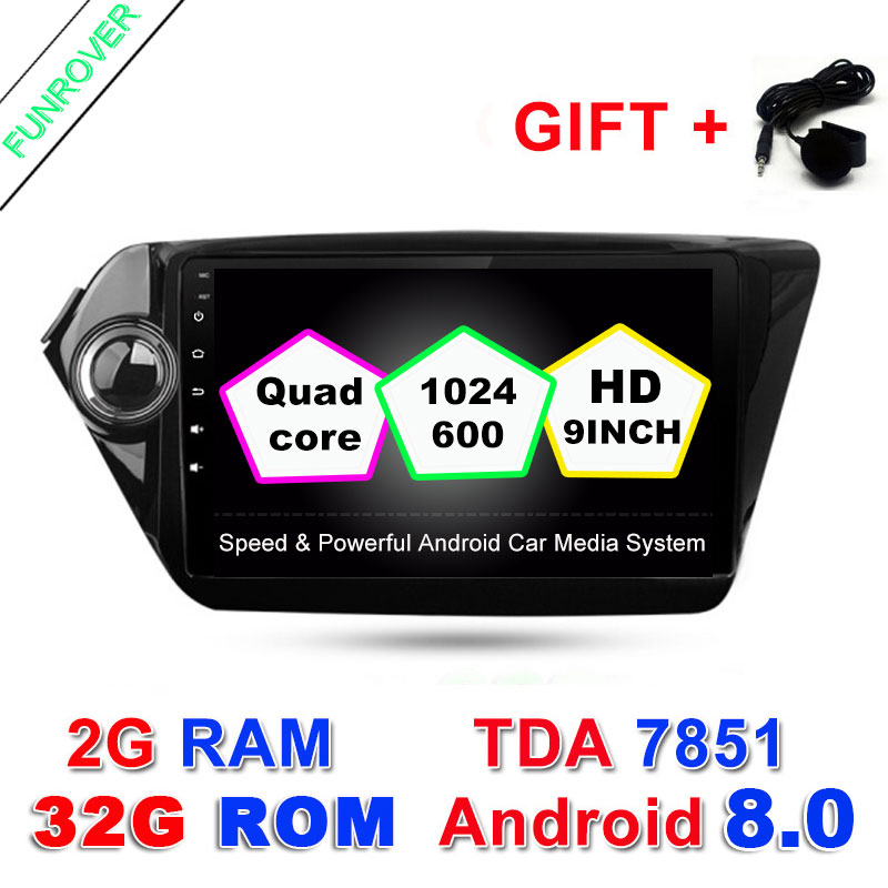 FUNROVER 2G 32G Quad Core 9 inch 1024 600 Android 8 0 font b Car b