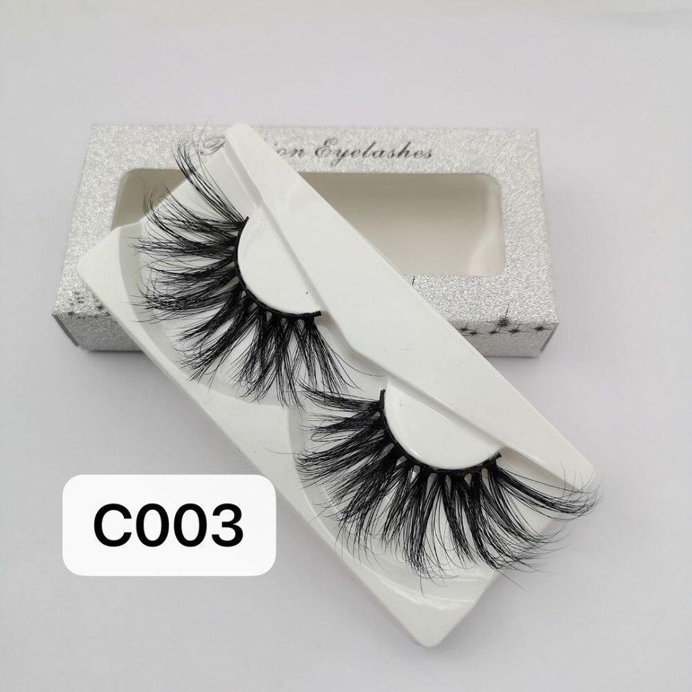 DOCOCER 30mm Long 3D Mink Lashes Extra Length Mink Eyelashes Big Dramatic Volumn Eyelashes Strip Thick False Eyelash