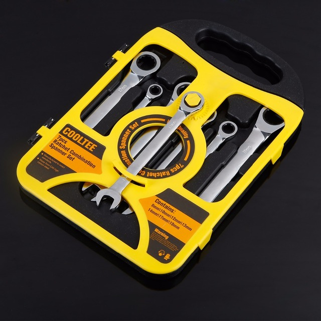 7 Pieces / 8-19MM Sets Of Fixed Head Ratchet Combination Wrench Set Motorcycle Car Repair Tools Torque Wrench Combination Wrench