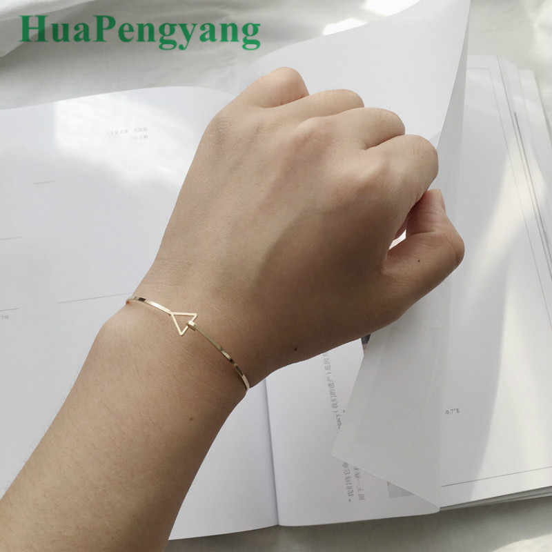 Korean Jewelry Design, Geometric Triangle, Open Bracelet, Simple Temperament Bracelet, Women's Jewelry Wholesale Thin Bracelet