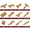 Doğal sandal ağacı kazıma masaj SPA terapi sopa noktası tedavisi kas gevşeme Guasha kurulu