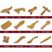 天然白檀こするマッサージスパ治療スティックポイント治療筋弛緩 Guasha ボード