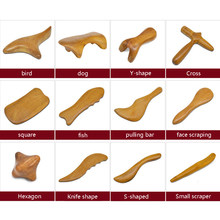 Natural Sandalwood Gua Sha Scraping Massage Acupuncture SPA Therapy Stick Point Treatment Muscle Relaxation Guasha Board(China)