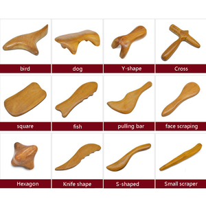 Image 1 - Natural Sandalwood Scraping Massage SPA Therapy Stick Point Treatment Muscle Relaxation Guasha Board