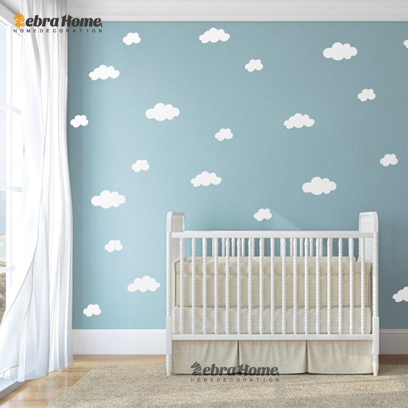 ᓂDiy الأبيض سحابة ملصقات الحائط الطفل الحضانة غرف نوم ديكور