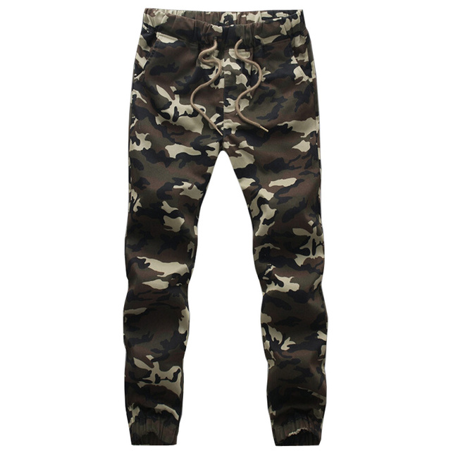 2017 Nueva Marca Para Hombre Joggers Pantalones de Camuflaje Pantalones de Chándal Harem Tamaño M-4XL de Los Hombres Ocasional Militar