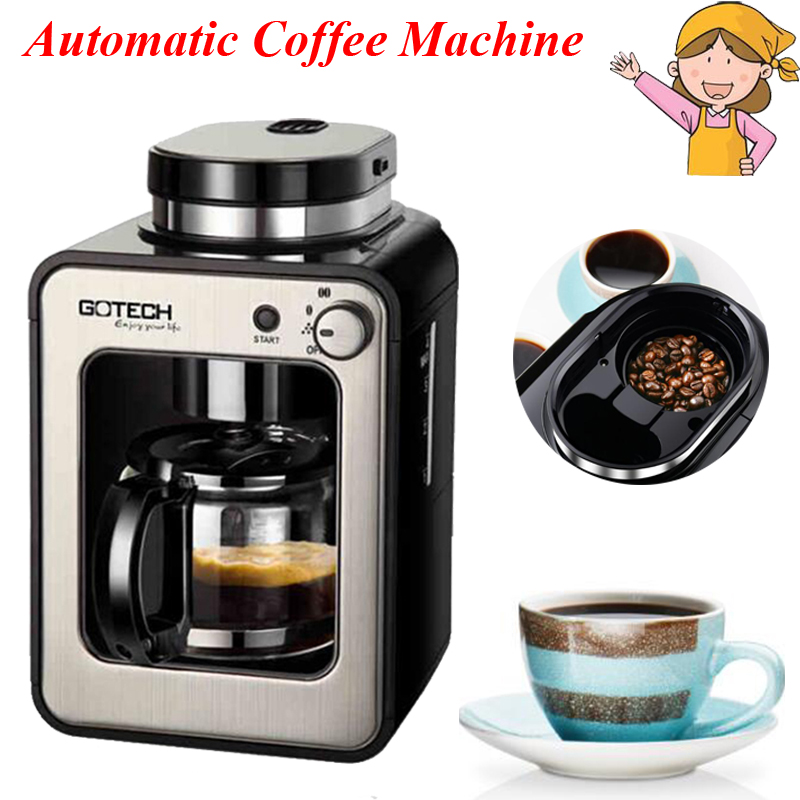 1pc CM6686A Full automatic coffee machine home / business new generation intelligent induction grinder home appliance