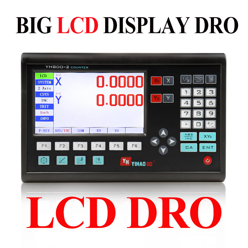 Complete Machine Tool 2 Axis Digital Readout Dro Big LCD Display For Machines Free Shipping