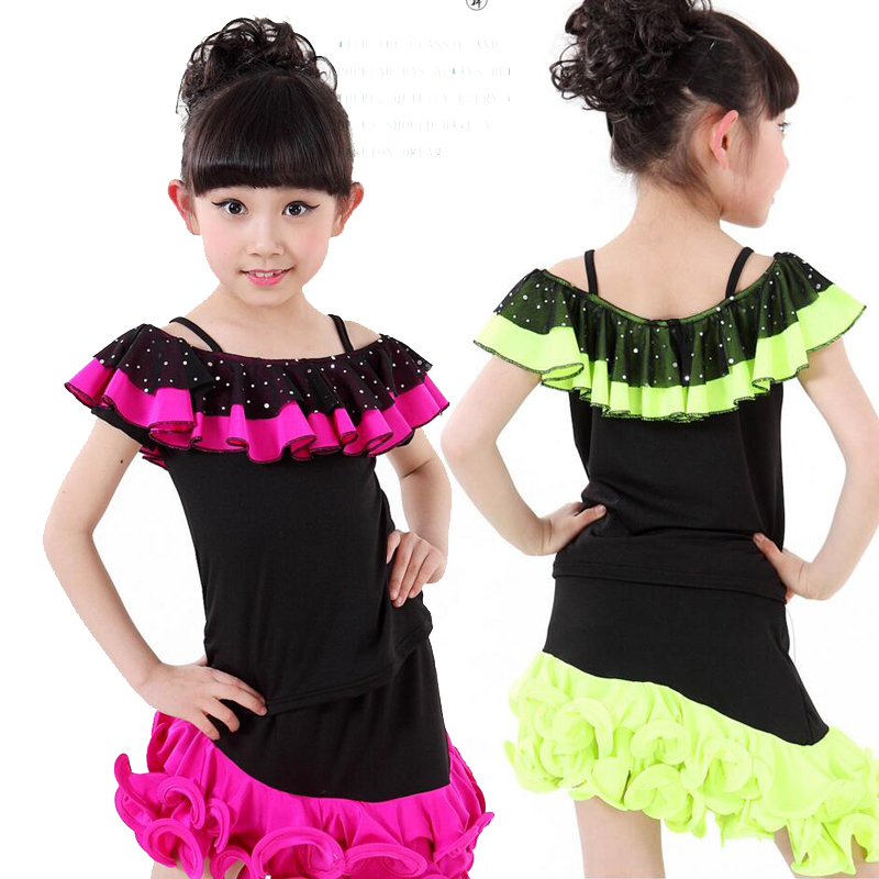 9b993a1f252a9 الأطفال ملابس الفتيات اللباس الطفل ملابس الرقص اللاتينية الرقص قاعة الرقص  حزب الرقص