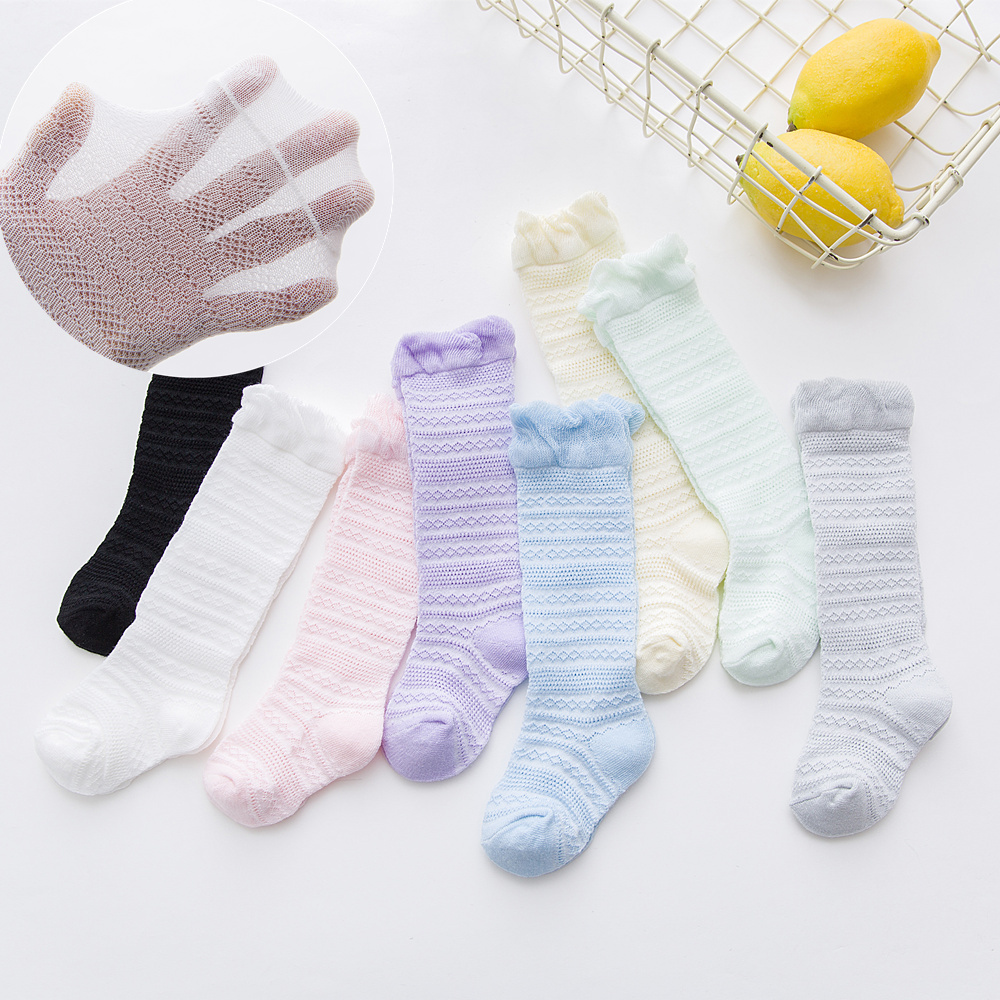 1pairs Baby White Kid Socks Spring Summer Style Network