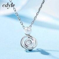 Cdyle Trendy Necklace Pendant S925 Sterling Silver Jewelry Fashion Elegant Australian Rhinestone Paved Bijoux Lady S