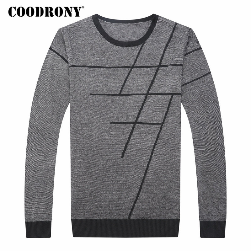 Image 4 - COODRONY Sweater Men Casual Striped O Neck Pullover Men Clothes 2018 Autumn New Arrivals Pull Homme Plus Size Thin Sweaters 8150-in Pullovers from Men's Clothing