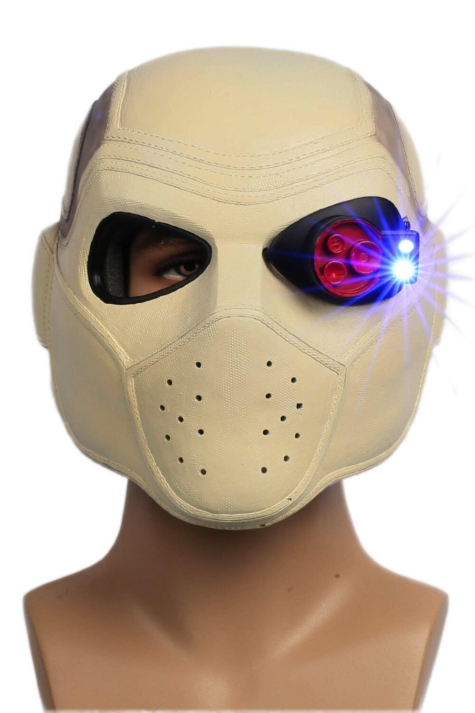 Deadshot Helmet Mask Suicide Squad 2016 New Movie Cosplay Props Full Head Resin Helmet XCOSER for Halloween Parties Adult