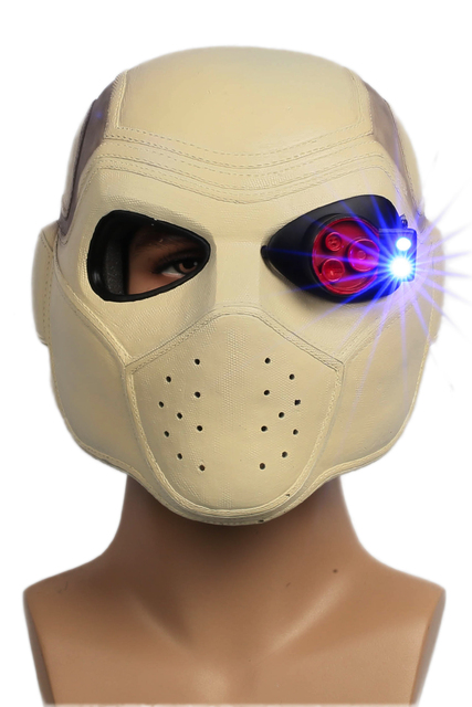 Deadshot Helmet Mask Suicide Squad 2016 New Movie Cosplay Props Full Head Resin Helmet XCOSER for Halloween Parties Adult