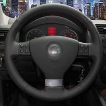 Вручную прошитый Автомобилей Руль Обложка для Volkswagen Golf 5 Mk5 Sagitar Magotan VW Passat B6 Jetta 5 Mk5 Tiguan 2007-2011