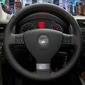 Mão-costurado Tampa Da Roda de Direcção Do Carro para Volkswagen Golf 5 Mk5 Sagitar Magotan VW Passat B6 Jetta 5 Mk5 Tiguan 2007-2011