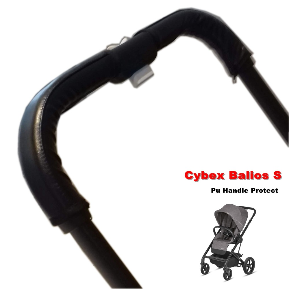 Baby Stroller Armrest Cybex Balios S Push Bar Pu Protective Case Cover 28x24x12cm  Handle Wheelchairs Strollers Accessories
