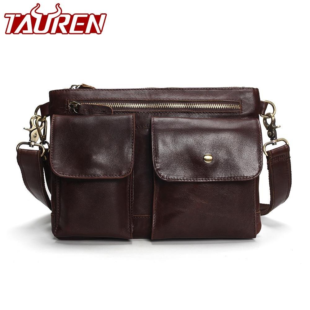Таурены 2018 Новое поступление для мужчин сумка из натуральной яловой кожи курьерские Сумки для прочный портфель