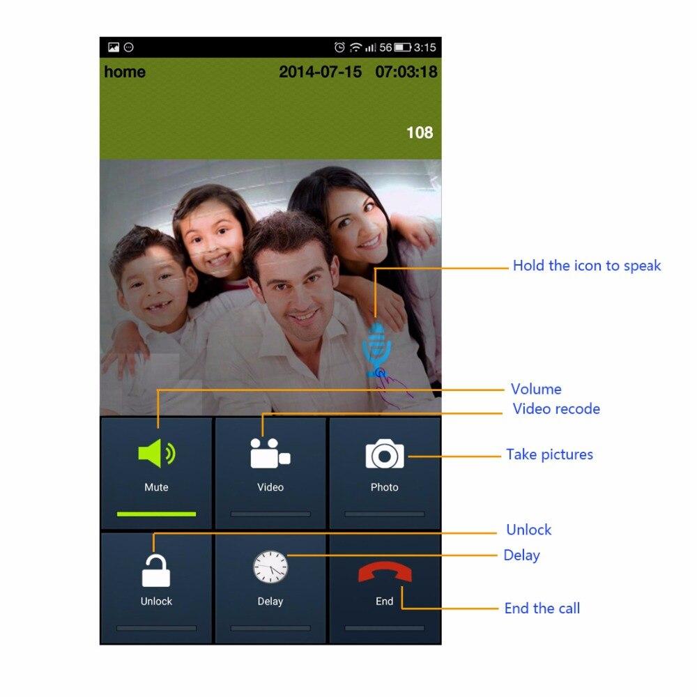 1.0MP Видимый беспроводной дверной звонок поддержка мобильное приложение удаленный разблокировать/с подкладкой аудио с открытый человек Вод...