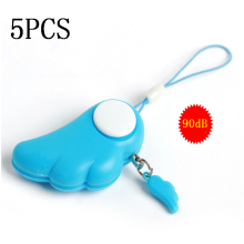 5pcs/Lot Self Defense Supplies 90DB Personal Attack/Anti Rape Alarm Safety Personal Security for Girl Kids Children Protection