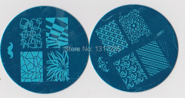 Best Sell Stamping Nail Art Mix Designs Bule Moud Nail Plate 102 ...