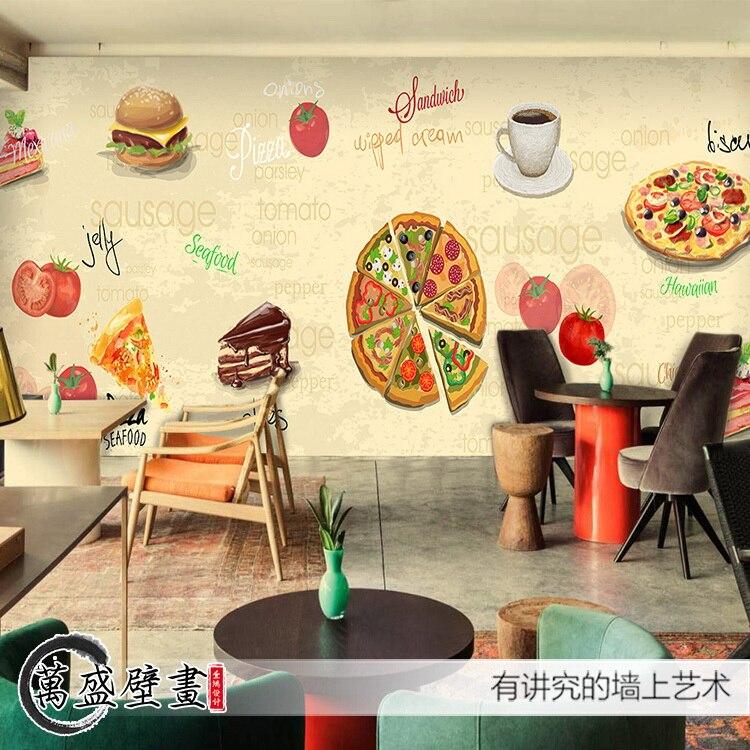 Pizza restaurant lounge theme large mural hallway sofa - Tapices para sofas ...