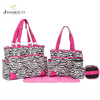 Mummy Bag Multifunctional Large Size Mummy Bag Zebra Pattern Fashion Pregnant Women Travel Supplies