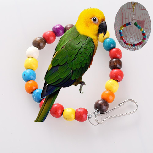 New Arrival Pet Bird Parrot Macaw Cage Large Swing Bites Wooden Toys For Parrots Dropship,free shipping