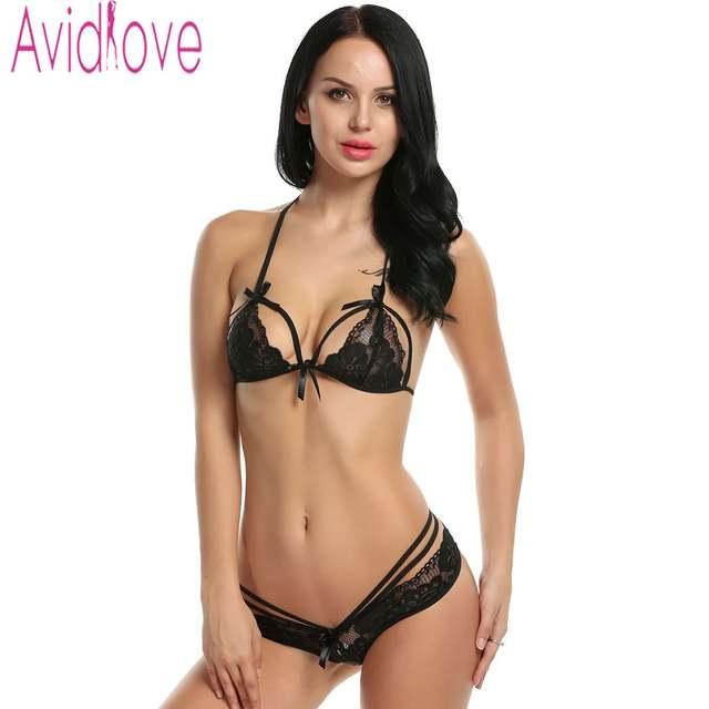 12aedc6335 Online Shop Avidlove Sexy Bra Panties Set Women Lingerie Sexy Lace Bra  Bralette Brasier Underwear Seamless Bra Set Strappy Bikini Bra +Panty