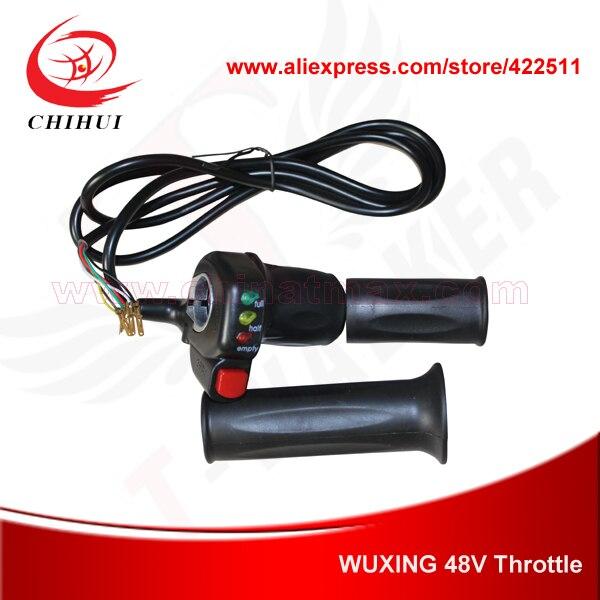Prix pour Wuxing marque 48 V Scooter Throttle poignées avec Ecno - Turbo interrupteur et indicateur de batterie électrique Scooter main Twist Throttle