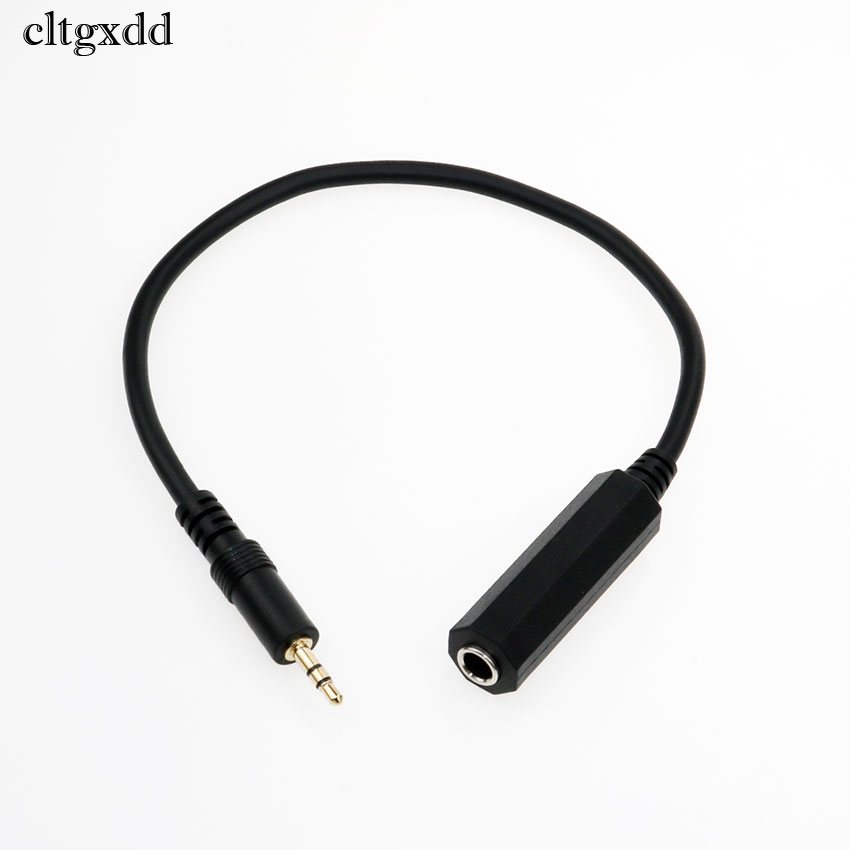Купить с кэшбэком cltgxdd 1PCS 3.5mm Male to 6.5mm Female Mono/Dual Jack Adapter Plug Stereo Speaker Audio Converter for Mobile Phone PC Notebook