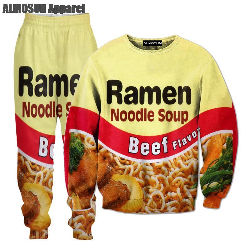 Almosun Shrimp Ramen Food 3d All Over Print Tracksuits Sweatshirts