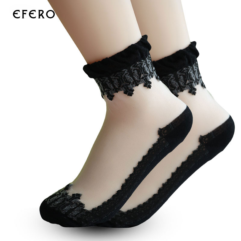 3pair=6pcs Lace Socks Women