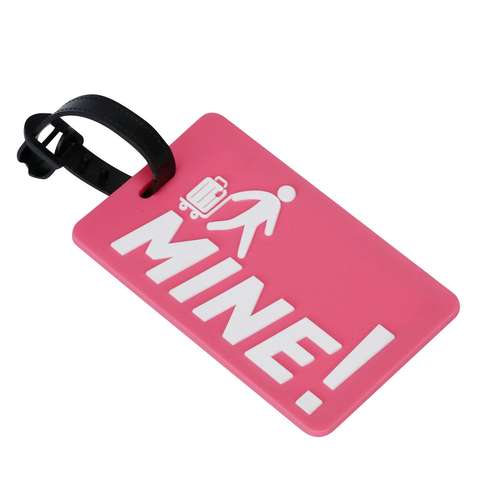 Hot sellers travel accessories Suitcase Luggage Tags Identifier Label ID Address Holder environmental protection cover luggage t