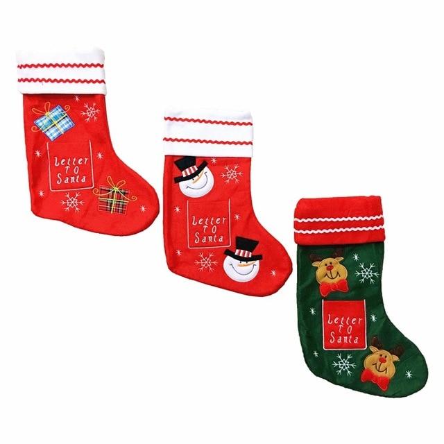 Año nuevo Medias De Navidad Calcetines Bolsa de Regalo de Papá Noel ...