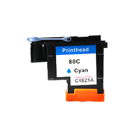 1Pcs CA4821A Cyan Printhead For HP 80 Designjet 1000 1050c 1055cm Printer 1pcs ca4820a black printhead for hp 80 for hp designjet 1000 1050c 1055cm printer