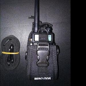 Image 1 - MSC 20A ווקי טוקי לbaofeng רדיו UV 5R,3R,888S,WLN רדיו ניילון ווקי טוקי תיק ניילון מקרה עבור שני מכשירי רדיו דרך