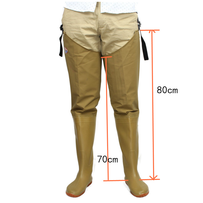 High-Jump Adjust Strap Fishing Waders Thickening Waterproof PVC Material Soft Boot Outdoor Hunting Fish Fishing Waders Pant+BootHigh-Jump Adjust Strap Fishing Waders Thickening Waterproof PVC Material Soft Boot Outdoor Hunting Fish Fishing Waders Pant+Boot