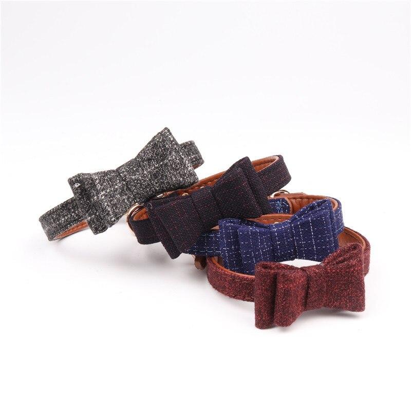 Livraison gratuite Britannique gentleman bowtie chien collier laisse 4 couleur chat accessoires mascotas collier pour chien collier perro coleira