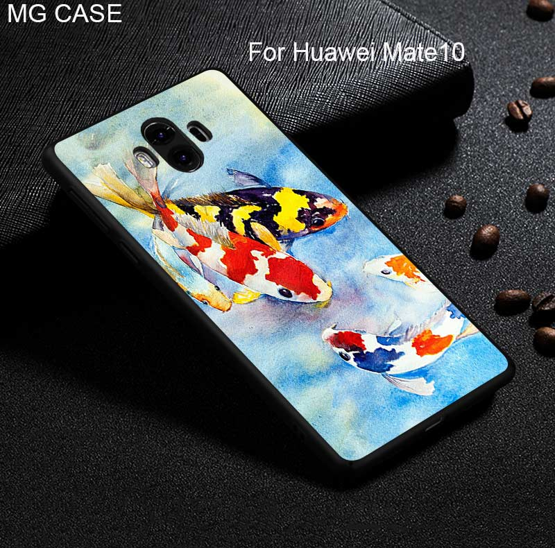 For Huawei Mate9 Mate9pro Mate10 Mate10pro cute lcuky koi fish cherry blossom cases for Huawei Nova2 nova2plus Head 6 cover bag