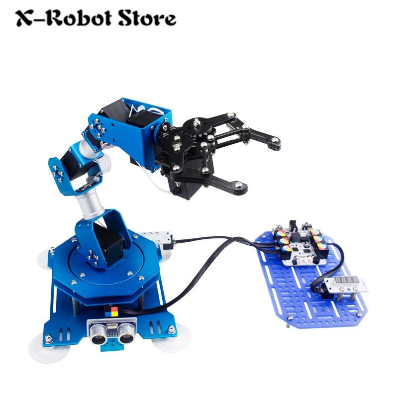 اكس ارم 6DOF 6 dof روبوت سلاح DIY كامل المعادن حافلة الروبوت اليد كيت مناور مضاعفات الذراع مع المعلمة ارتجاعية اردوينو-في شخصيات دمى وحركة من الألعاب والهوايات على  مجموعة 1