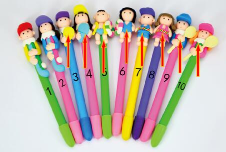 New High Quality Polymer Clay Kids Gift Pen ,novelty Cartoon Cute Promotional Soft Clay Character Ball Pen