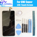 Umi Super LCD Display+Touch Screen 100% Original LCD Digitizer Glass Panel Replacement For Umi Super +tools+adhesive