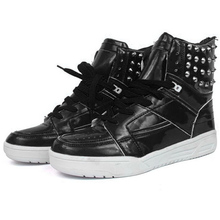 Men's Sneakers Lace-up High Ankle Men Skateboarding Shoes Revits Street Man's Footwear Cool Shoes XMB523