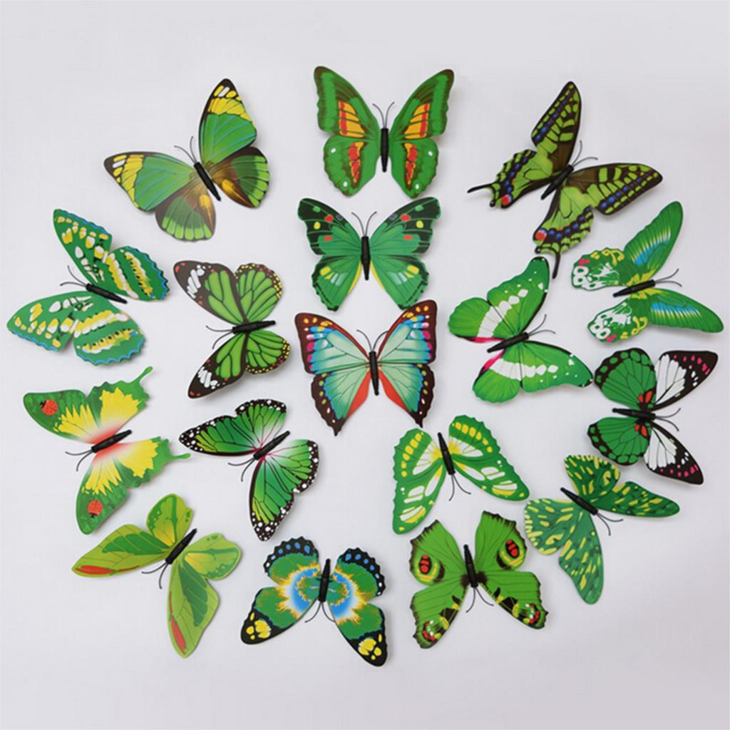 Butterfly Stickers For Bedroom Walls ᗐgreat 12pcs Pvc 3d ჱ Wall Wall Stickers Butterfly Wall