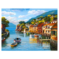 2015 NEW DIY 3D Diamond Painting Bule Bay City Sewing Rhinestones Crystal Art Craf Household And