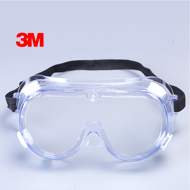 3M 1621 Anti-Impact Anti Chemical Splash Safety Goggles Economy Clear Anti-Fog Lens Eye Protection Dust Laboratory Glasses